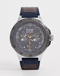 Superdry Chronograph Watch In Brown Syg234br