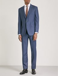 Gieves And Hawkes Micro Textured Regular Fit Wool Suit Medium Blue