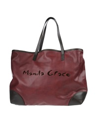 Manila Grace Handbags Maroon