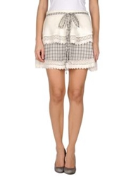 Duck Farm Mini Skirts Ivory