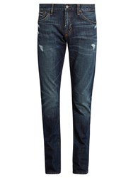 Jean Shop Jim Distressed Skinny Jeans Blue