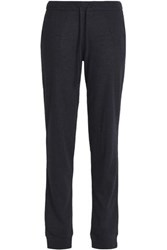 Majestic Cotton And Cashmere Blend Track Pants Midnight Blue