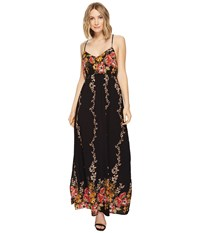 Brigitte Bailey Ronja Spaghetti Strap Floral Maxi Dress Black Women's Dress