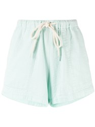 Bassike Drawstring Flared Shorts Green