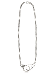 John Richmond Handcuffs Necklace Silver