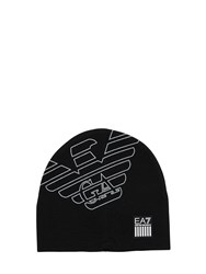 Emporio Armani Train Visibility Techno Beanie Black