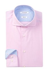 Isaac Mizrahi Long Sleeve Slim Fit Solid Dress Shirt Pink