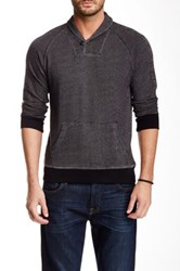 1901 French Terry Shawl Collar Popover Black