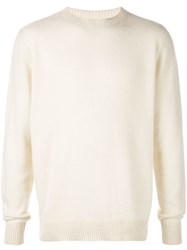The Elder Statesman Round Neck Jumper Neutrals
