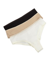 Chantelle Basic Invisible Thong Black Milk Nude