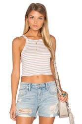 Nation Ltd. Winnie Stripe Crop Tank Nude