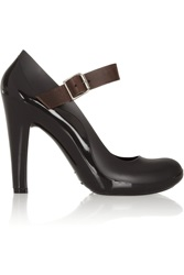 Marni Leather Trimmed Rubber Pumps