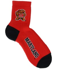 For Bare Feet Maryland Terrapins Ankle Tc 501 Socks Red Black