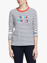 Boden Statement Breton Top Blue