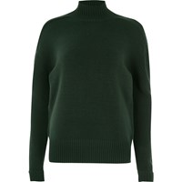 River Island Womens Dark Green Turtle Neck Jumper