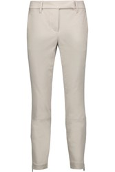 Brunello Cucinelli Cotton Blend Twill Tapered Pants Light Gray