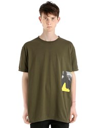 Damir Doma Oversize Printed Cotton Jersey T Shirt Olive Green