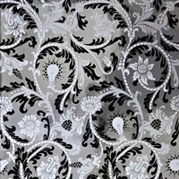 Flavor Paper Power Plant Wallpaper Sample Swatch Black And White On Chrome Mylar Sample