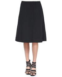 Eileen Fisher Organic Cotton A Line Skirt Black