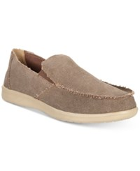 Weatherproof Vintage Men's Pontoon Canvas Slip On Shoes Men's Shoes Brown