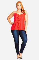 Plus Size Women's City Chic 'Waterfall' Camisole Paradise