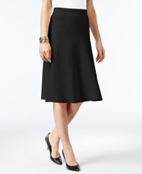 Alfani Milano Fit And Flare Sweater Skirt Only At Macy's Deep Black