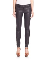 Polo Ralph Lauren Stretch Leather Skinny Pants Polo Black