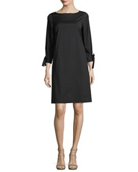 Lafayette 148 New York Paige 3 4 Sleeve Jersey Dress Plus Size Black