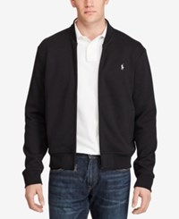 Polo Ralph Lauren Men's Big And Tall Double Knit Bomber Jacket Black