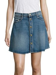 Mother Miranda Kerr X A Line Denim Mini Skirt High Spirits