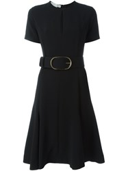 Stella Mccartney Belted Keyhole Detail Dress Black