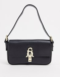 Steve Madden Bstevete Logo Hardwear Shoulder Bag In Black