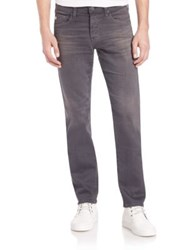 Ag Jeans Matchbox Faded Slim Straight Fit Two Year Dark Rock