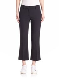 Helmut Lang Crop Flared Pants Black