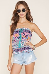 Forever 21 Abstract Print Tube Top