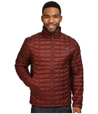 The North Face Thermoball Full Zip Jacket Sequoia Red Men's Coat Brown