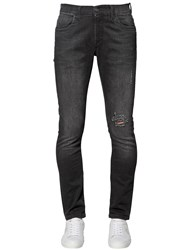 Bikkembergs 16Cm Skinny Stretch Cotton Denim Jeans