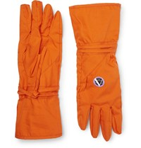 Raf Simons Printed Cotton Gloves Orange