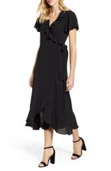Chelsea 28 Chelsea28 Ruffle Wrap Dress Black