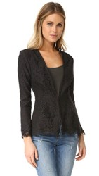 Cupcakes And Cashmere Tess Fitted Lace Blazer Black