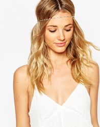 Asos Fine Bead Chain Headband Gold