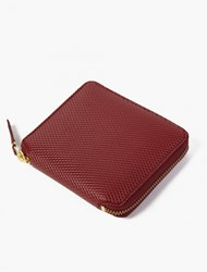 Comme Des Garcons Burgundy Leather Luxury Wallet
