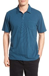 Quiksilver Men's Waterman Collection Strolo 6 Pocket Polo Legion Blue