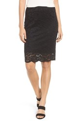 Rosemunde Filippa Scalloped Lace Skirt Black