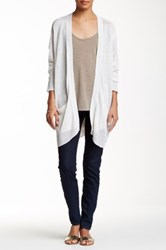 Cullen Easy Open Front Linen Cardigan White