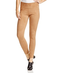 Aqua Faux Suede Leggings Camel