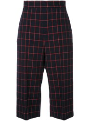 Macgraw Checked Knee Length Shorts Blue