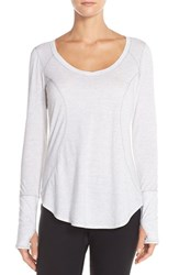 Women's Zella 'Cover Me' Scooped Neck Pullover Silver Star