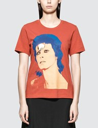 Undercover David Bowie T Shirt In Orange