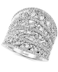 Effy Collection Pave Classica By Effy Diamond Ring 1 5 8 Ct. T.W. In 14K White Gold